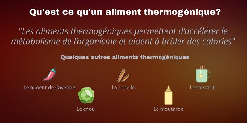 Qu'est ce qu'un aliment thermogénique? Le maté et quelques autres aliments