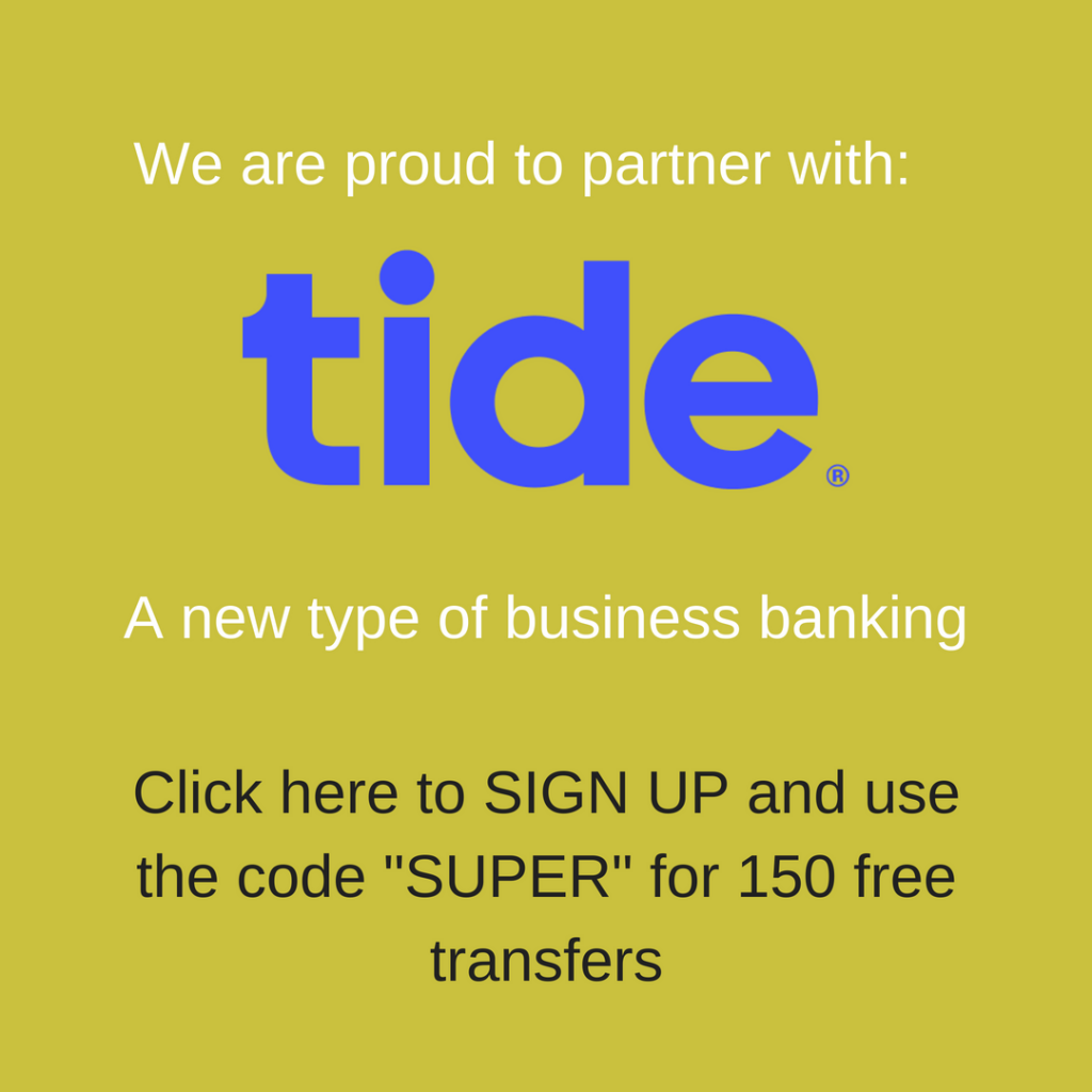 We've partnered with Tide get 150 free transfers with code 'SUPER'