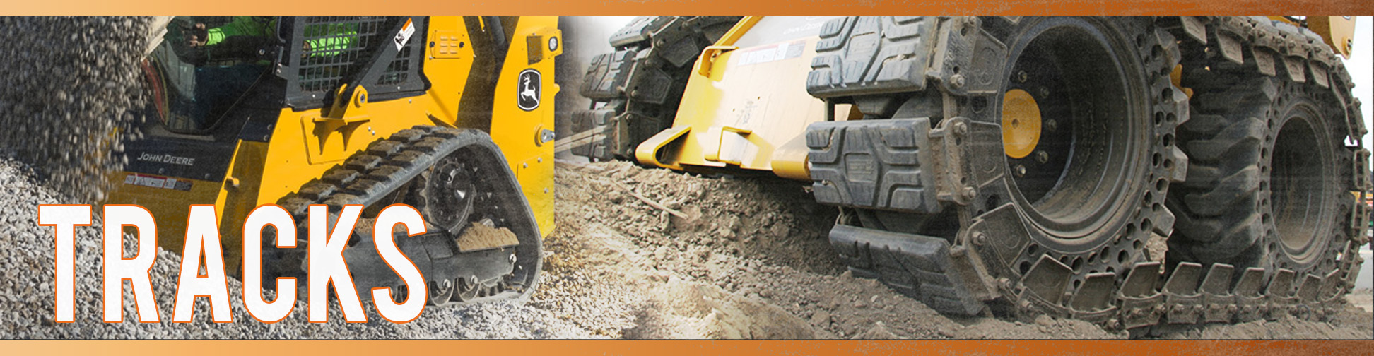 Compact track loader and excavator tracks