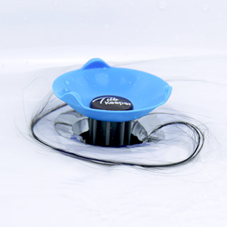TubKeeper hair catcher for bathtub drain prevents clogs
