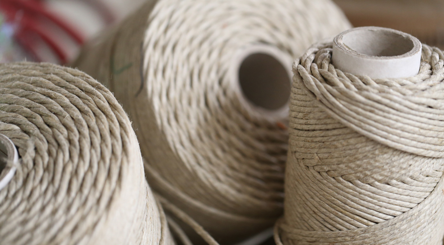 Twine for coil springs