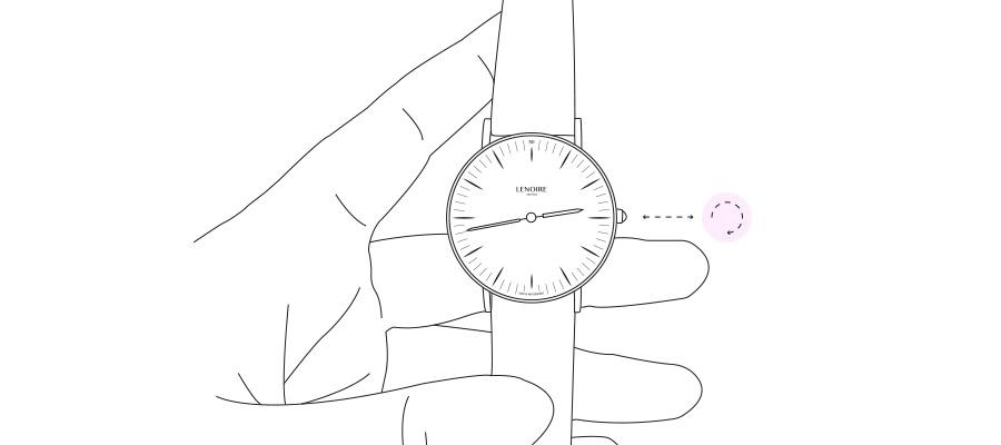 Lenoire Uhr Krone