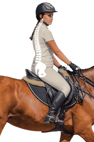 Posture when horse riding