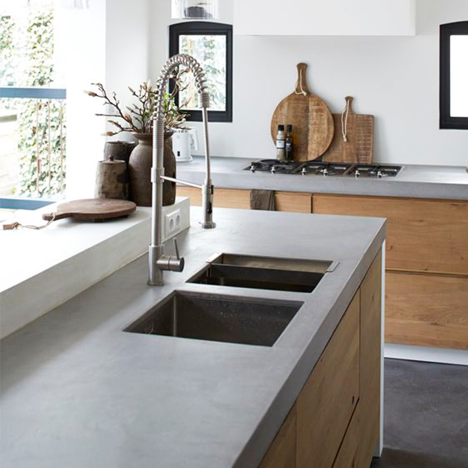 Kitchen in London Bridge with Poloshed Concrete