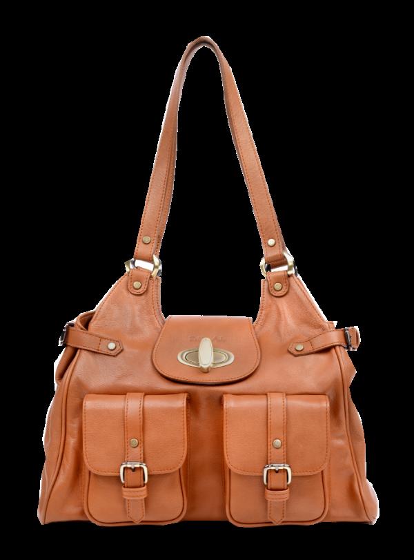 Zella Ash - Vida, Leather Cocker Brown/Tan Shoulder Bag