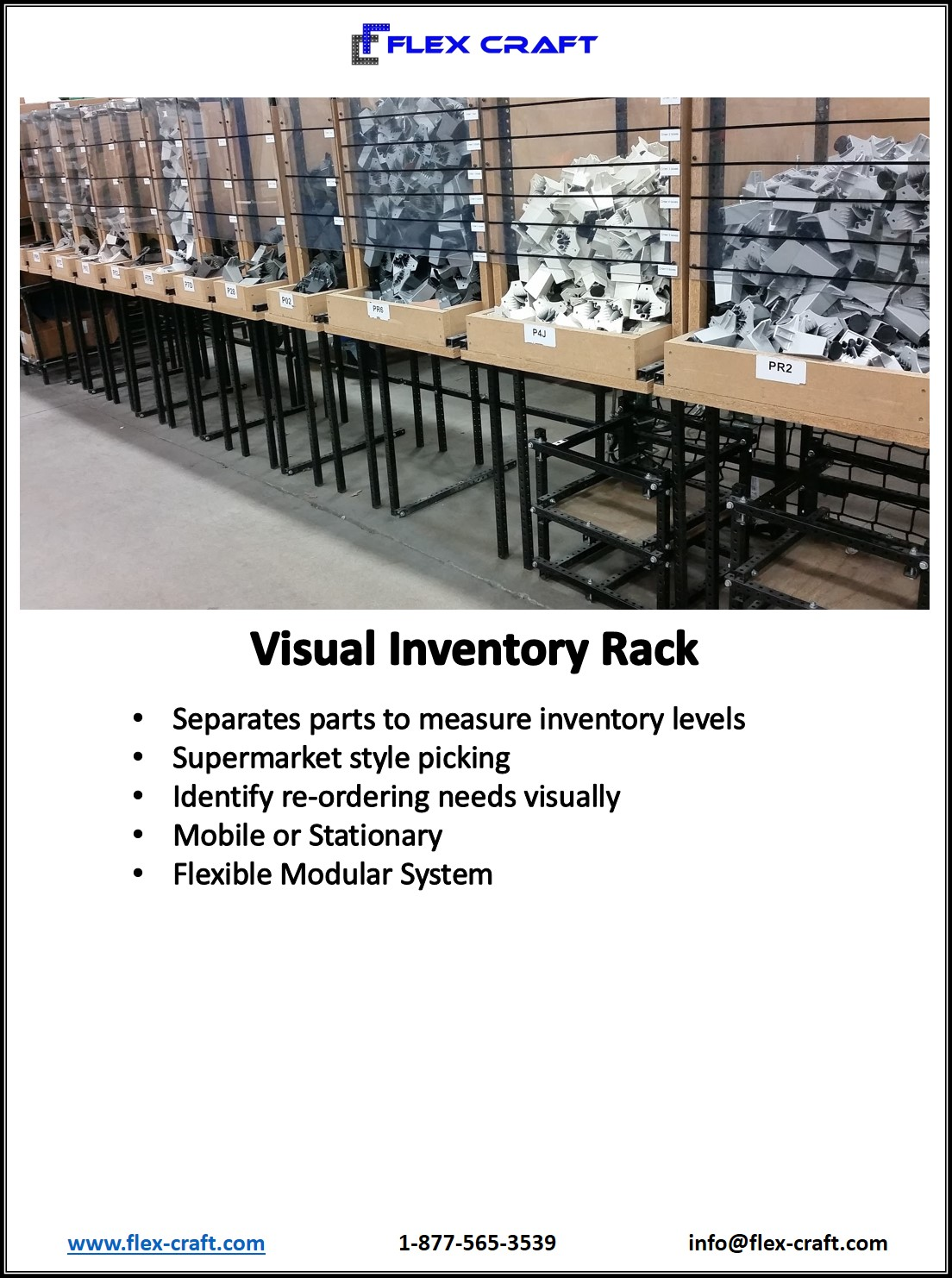 Visual Inventory Parts Storage Rack