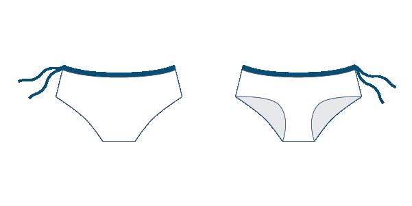 Namiko Voyager surf bikini bottoms