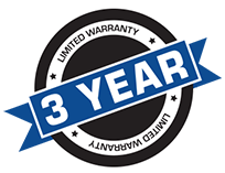 3 YEARS LIMITED WARRANTY