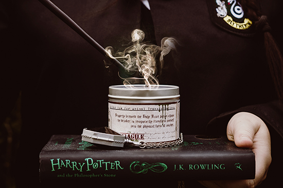 Happy Piranha's Polyjuice Potion scented candle