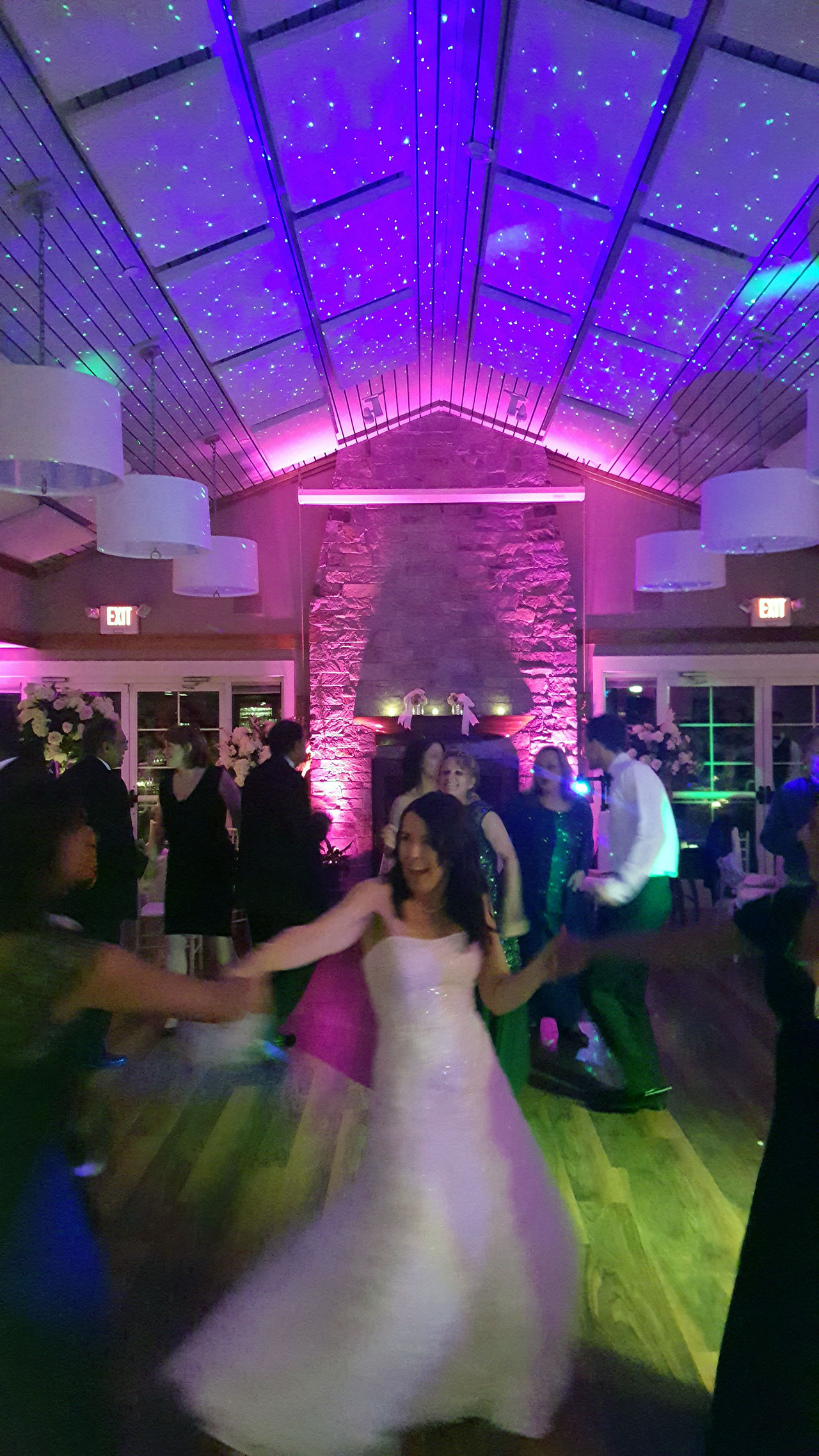 BlissLights BL-50 Starry night laser on cieling at wedding