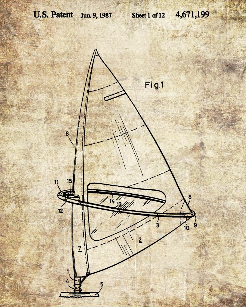 windsurfer patent print