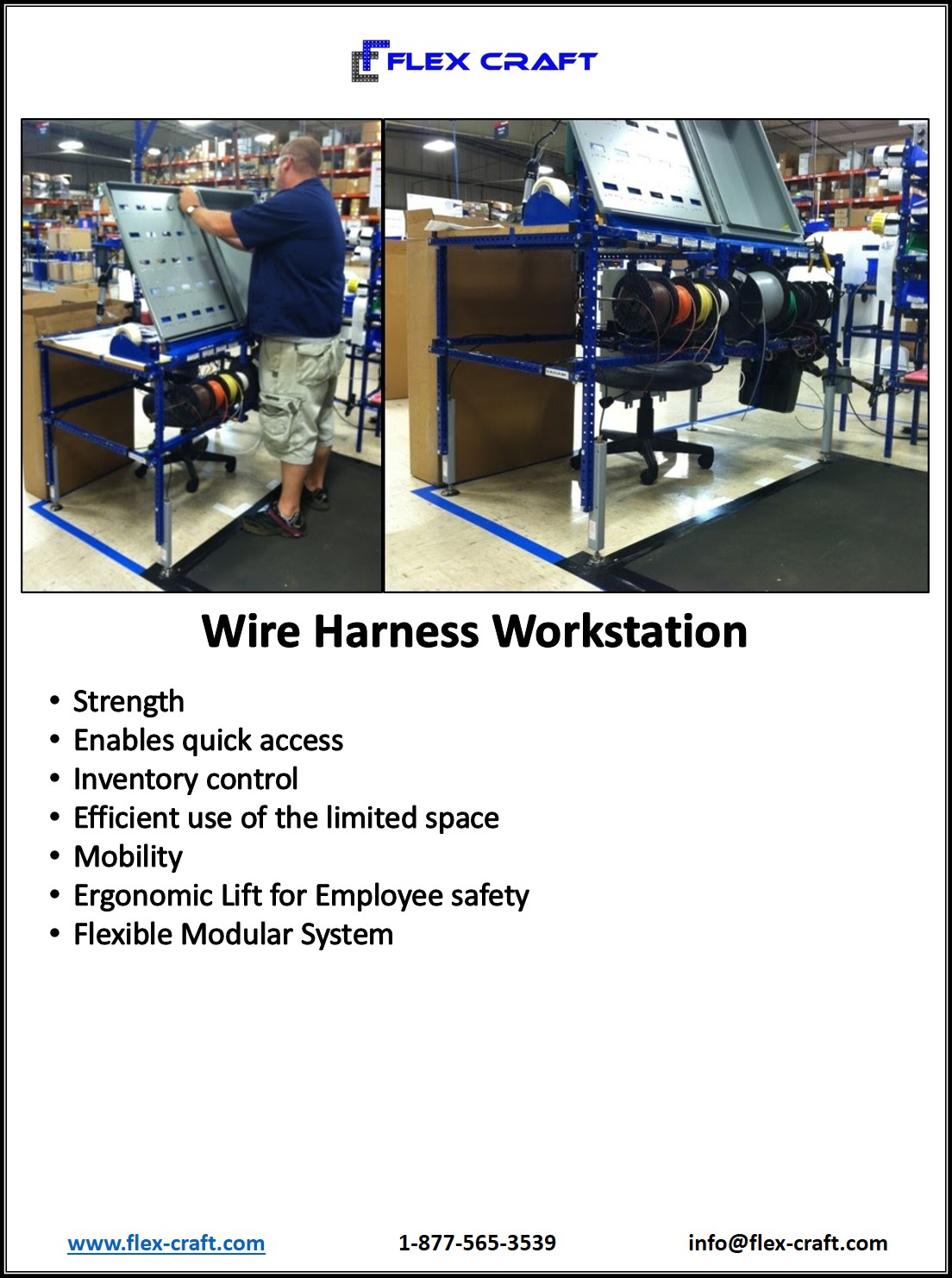 Ergonomic Wire Harness Work Station