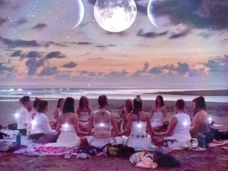 Women in Sacred Gathering Circle