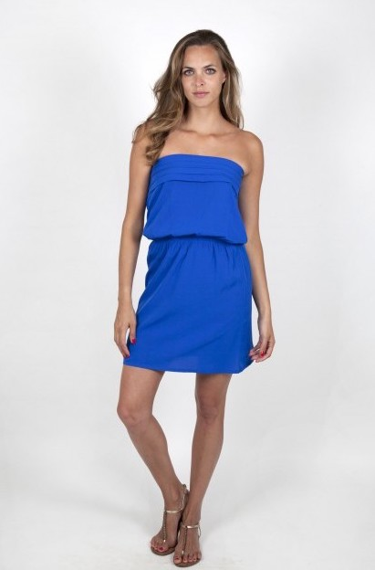 blue electric summer dress