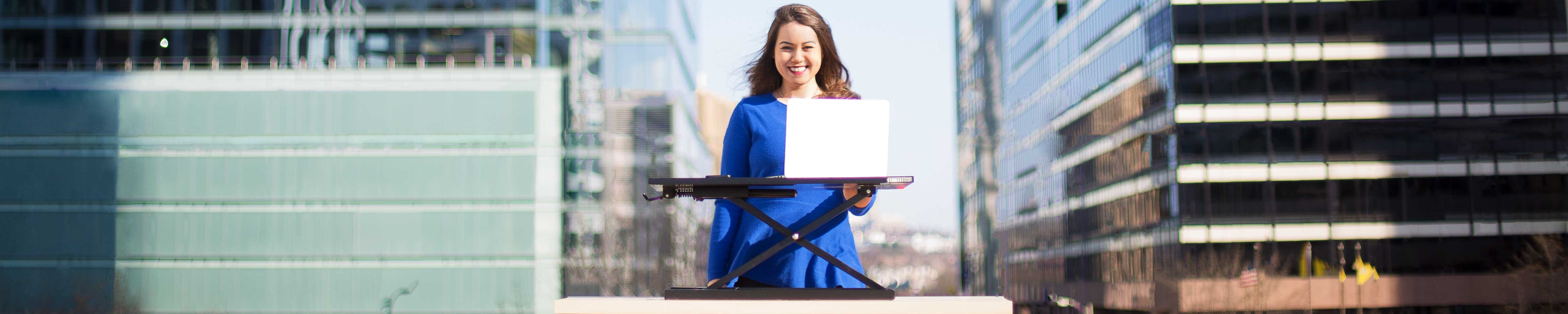 X-Elite Pro Standing Desk in the City