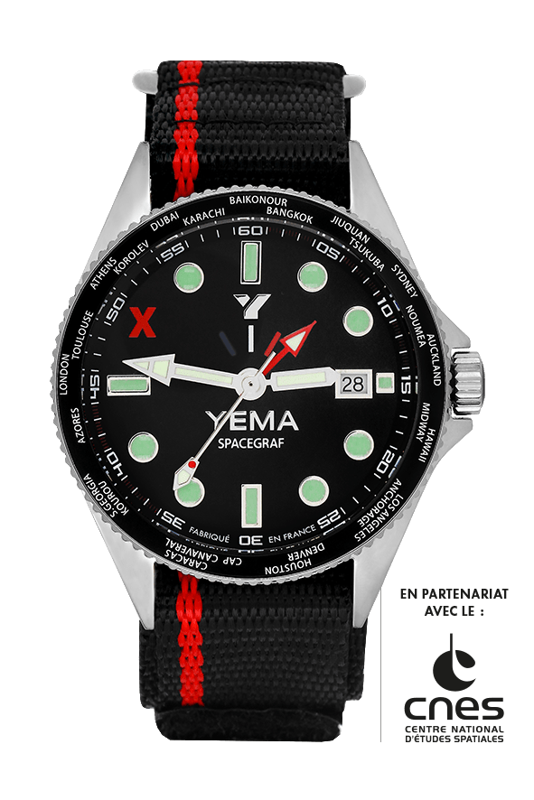 YEMA SPACEGRAF BLACK GMT