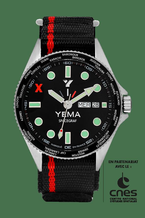 YEMA SPACEGRAF BLACK JOUR/DATE