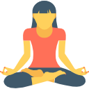 Woman Meditating Icon for Improved Concentration