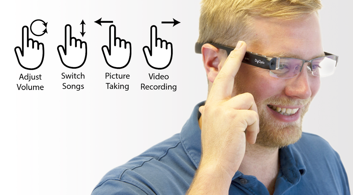 Easy gesture control for Video Recording, Picture Taking, Switch Songs, Adjust Volume